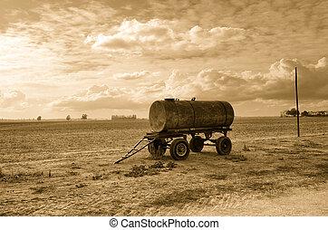 old tanker trailer
