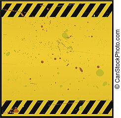 Blank Warning Sign - Vector illustration of blank warning...
