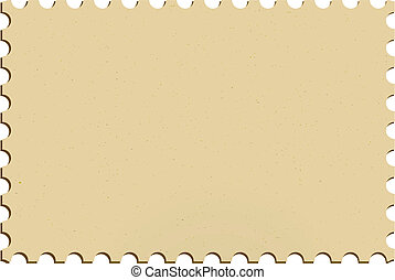 Stamp - Blank postage mailing stamp