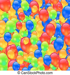 Colorful Ballons Background Set of Colorerd Ballons