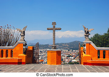 Cholula Pyramid in Puebla, Mexico - Church of Our Lady of...