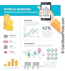 Online banking infographic Business infographic concept with...
