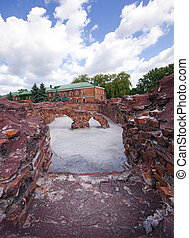 fortress ruins - the preserved ruins of buildings of the...