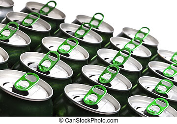 alumínio, Cerveja, latas,