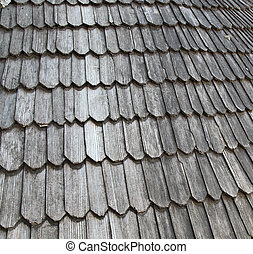 wooden roof - Old wooden roof of the fortress...