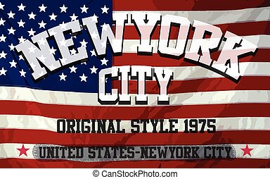 New york American Flag