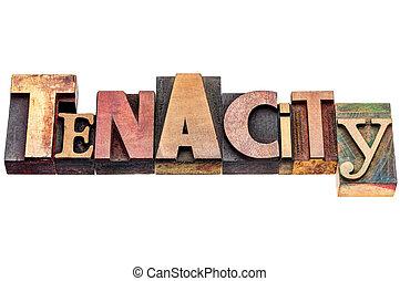 Extracto, palabra, Tipografía, tenacidad