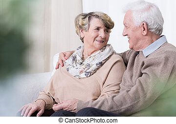 Relationship in old age - Happy people being in relationship...