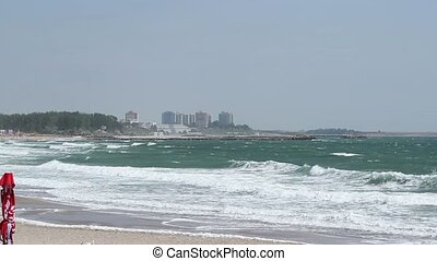 Rough Sea View - A rough sea panorama on a windy summer day.