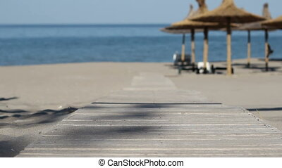 Pathway to Beach - Changing focus of the wooden boards...