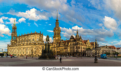 Dresden, Germany - Monument to King John of Saxony in...