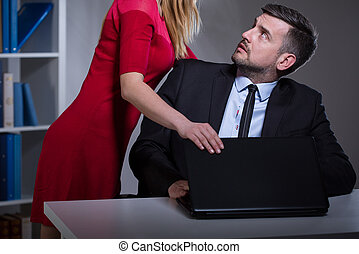 Sexual harassment in the workplace - Picture presenting...