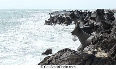 Rough Sea Wave