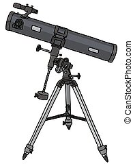 Telescope - Hand drawing of a small astronomic telescope