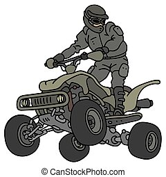 Rider on the military ATV