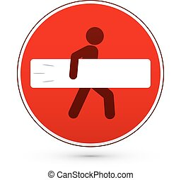 Red stop road sign with surfer man - Red vector stop road...