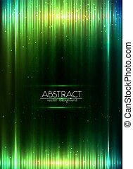 Green shining equalizer vector abstract background - Green...