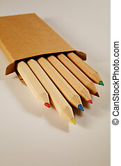 Colored pencils - Set of colored pencils in a box