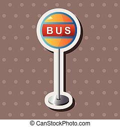 Bus stop theme elements