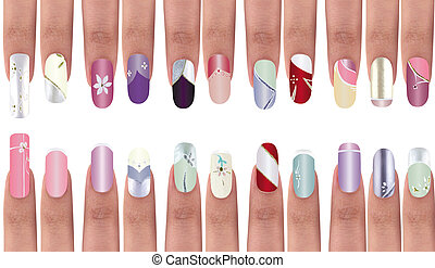 Nail design - Polished nails with a unique design