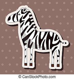 animal zebra cartoon theme elements