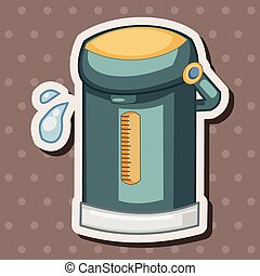 Home appliances theme electric thermos elements