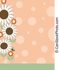 Daisy Flower Border - A border or frame with large white...