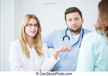 Doctors in a hospital during medical consultation