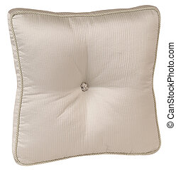 Cushion over white
