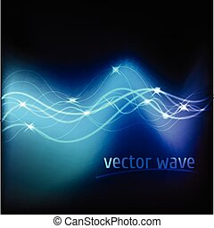 Vector illustration of blue abstract background