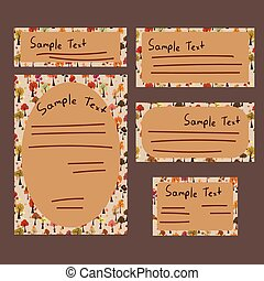 Templates of card and letter