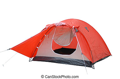 Tent - Tent isolated over white...