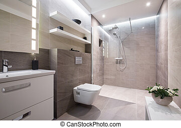 Exclusive modern bathroom - Exclusive modern white bathroom...