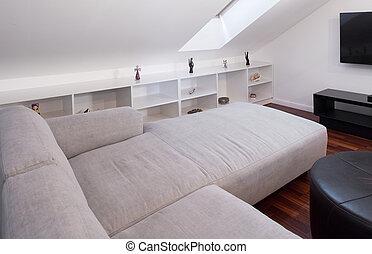 Corner white sofa