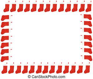 frontera, navidad, media, rojo