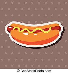 fast foods hotdog theme elements