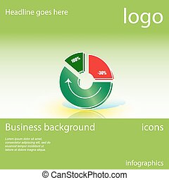 Chart, graph, business background