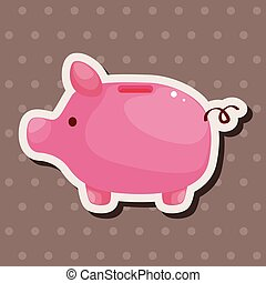 piggybank theme elements