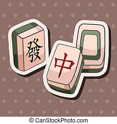 Mahjong theme elements