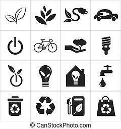 save the world and clean energy icon