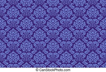 Baroque wallpaper deep-purple