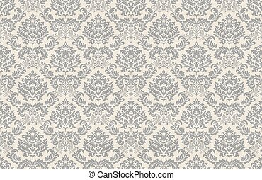 Baroque wallpaper gray-pale