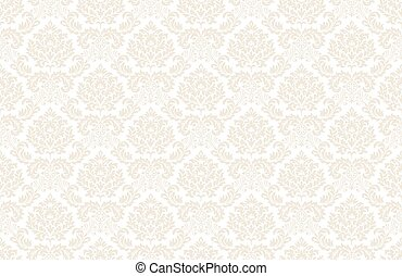 Baroque wallpaper white-gold