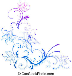 flower pattern - drawing of beautiful flower pattern in a...