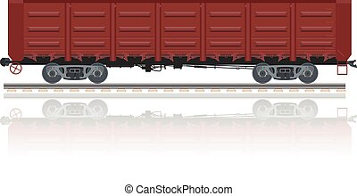 Gondola car - Vector image of a red gondola car