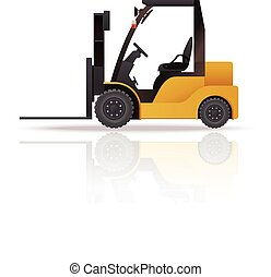 Loader - Vector image of an yelllow auto loader