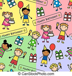 pattern with birthday party