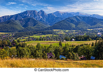Panoramic view of Tatra Mountain - View from Gubalowka on...