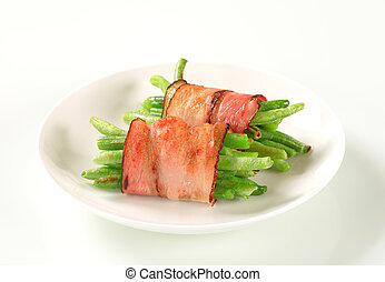 String beans wrapped in bacon - String beans wrapped in...