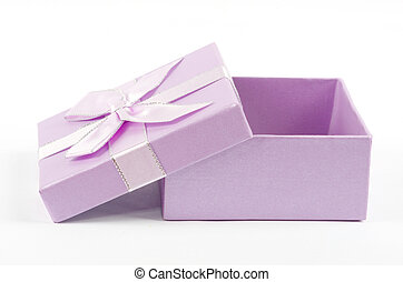 box gifts - Christmas box gifts with satin bow isolated on...